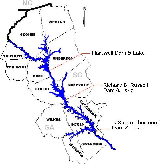 Map of Lake Russell